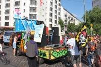 Spreeparade 16. Juli 2011, Demoparade gegen Mediaspree in Berlin, Motto: Bürgerentscheid umsetzen