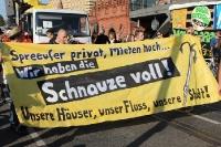 Proteste gegen Mediaspree / Spreeparade