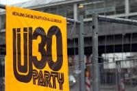 Werbung für eine Ü30-Party in Berlin