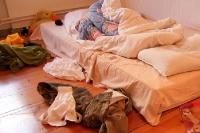 zerknülltes Bett ...
