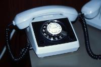 graues Telefon aus DDR-Zeiten