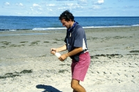 Den Sekt am Strand schäumen lassen