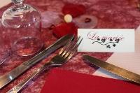 Platzkärtchen für eine französische Hochzeit
