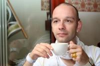 Milchkaffee genießen ...