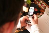 Fix eine SMS auf dem Handy getippt...