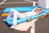 Relaxen auf der Luftmatratze