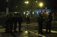 Polizei sichert eine Straße ab