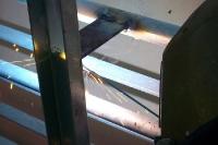 Schweißarbeiten am Geländer