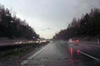 Regen auf der Autobahn