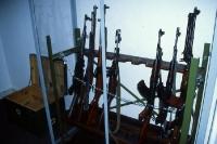 diverse Gewehre Seite an Seite