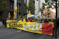 Spitze des Demonstrationszuges am 18. September 2010