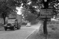 Stadtgrenze in Berlin-Mahlsdorf, Anfang 50er Jahre