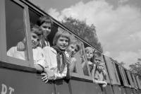 Kinder in der Pioniereisenbahn, 60er Jahre