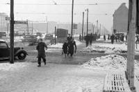 Stalinallee Ecke Warschauer Straße Anfang 50er Jahre