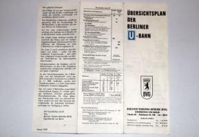 Übersichtsplan der BVG (Januar 1970)