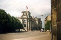 Der Reichstag in Berlin, Anfang der 90er Jahre