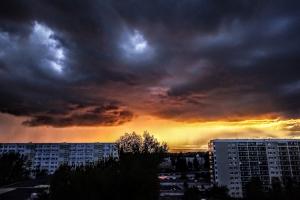 Abendhimmel über Berlin