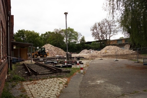 Abrissarbeiten Bahnhof Schöneweide
