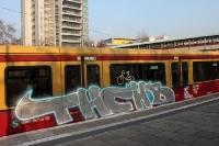 Graffiti / Schmierereien an einem Berliner S-Bahn-Zug