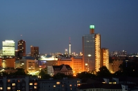 Potsdamer Platz in Berlin bei Nacht