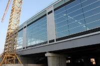 Der S-Bahnhof Ostkreuz in Berlin nimmt im Herbst 2011 langsam Konturen an ...