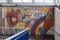Mosaik am S-Bahnhof Poelchaustraße in Berlin