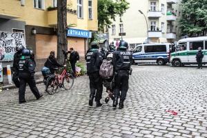 Räumung Kiezladen Friedel 54 in Neukölln
