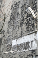 alte Fassade mit Lampe