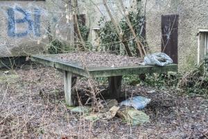 alte Tischtennisplatte
