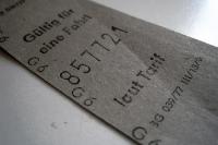Bus-Fahrschein in Ostberlin / DDR