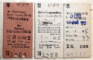 Fahrkarte der Deutschen Reichsbahn