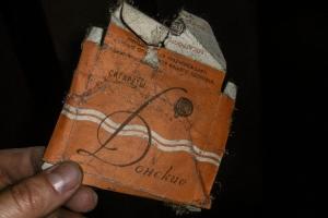 sowjetische Donskie Zigaretten in alter Kaserne