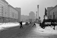 Stalinallee in Ostberlin Anfang der 50er Jahre, Strausberger Platz