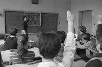 Unterricht an einer POS (Polytechnische Oberschule) in Berlin-Köpenick, 60er Jahre