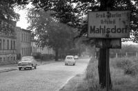 Ortseingang von Groß-Berlin, Stadtteil Mahlsdorf, Anfang der 50er Jahre, DDR / SBZ