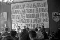 FDJ-Versammlung in Ostberlin, DDR / SBZ, Anfang der 50er Jahre, Sozialismus