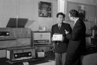 Chinesischer Firmenvertreter auf der Leipziger Messe 1959