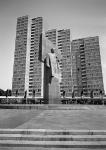 Lenindenkmal am Leninplatz in Ostberlin