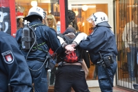 Massive Auseinandersetzungen in Hamburg