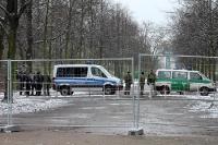 Das Regierungsviertel in Berlin ist abgesperrt