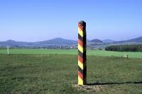 DDR-Grenzsäule am Point Alpha bei Rasdorf und Geisa