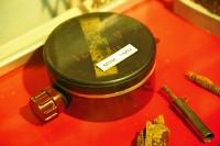 PLastik-Bodenmine, die an der deutsch-deutschen Grenze bis 1985 verlegt war