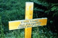 Gedenkkreuz für Klaus Schaper, der am 11. März 1966 durch Minen an der innerdeutschen Grenze starb