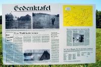 Gedenktafel für die geschleifte Ortschaft Papstleithen am Dreiländereck
