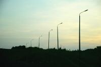 Lichtsperren am Grenzstreifen bei Teistungen im Eichsfeld