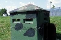 Beobachtungsbunker der Grenzanlagen der deutsch-deutschen Grenze, in Mödlareuth