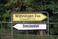 Wegweiser zu einem Grenzmuseum