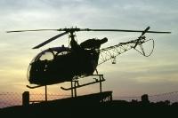 Helikopter des Bundesgrenzschutz / BGS im Grenzmuseum Teistungen im Eichsfeld