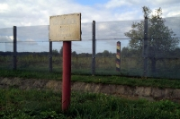das geschleifte Dorf Stresow in Mecklenburg-Vorpommern, ehemalige Grenzanlagen