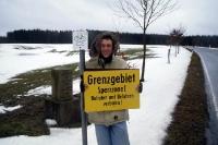 Eine Mitbringsel aus Mödlareuth: Ein original Schild